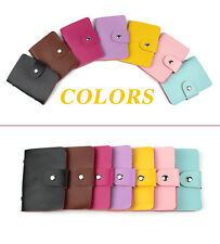 Card Case Wallets Credit Card Holder ID Business Case Snap closure Purse 24 Slot