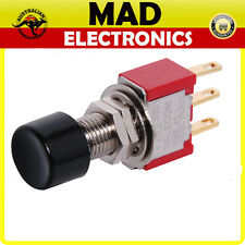 SPDT MOMENTARY SOLDER TAIL PUSHBUTTON SWITCH