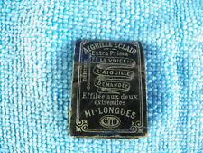 Ancien étui a Aiguille (aiguille éclair) couture Needle Sewing Nadeln sharp