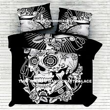Head of Skull Mandala Indian Duvet Doona Cover Throw Quilt Cover Bedding Blanket