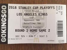 LOS ANGELES KINGS VS VEGAS GOLDEN KNIGHTS APRIL 17/18 RND 1 GAME 2 TICKET STUB