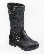 """NEW GIRLS """"143 GIRL"""" ABBY MOTO TALL BOOTS - SIZE: 4 M  COLOR: BLACK"""