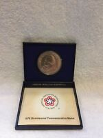1976 BICENTENNIAL COMMEMORATIVE MEDAL THOMAS JEFFERSON W/BROCHURE & CASE