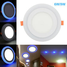 White Blue Dual Color Led Ceiling Light Fans Recessed Panel Downlight Spot Lamp