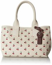 NEW NWT Marc Jacobs Printed Fruit Canvas Tote in Off White Cherry Print Red