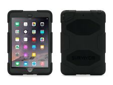 NEW GENUINE GRIFFIN SURVIVOR IPAD MINI 1 2 3 TOUGH HARD CASE COVER & STAND BLACK