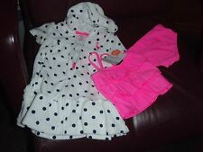 CARTERS 2 PIECE PINK BATHING SUIT & TERRY POLKA DOT  ROBE SZ 3 MONTHS NEW $36.00