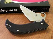 SPYDERCO New Black G-10 Handle Jot Singh Khalsa VG-10 Blade Knife/Knives