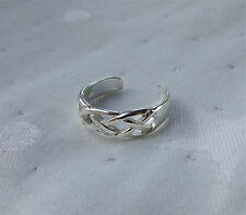 925 Sterling Silver Loose Weave Toe Ring