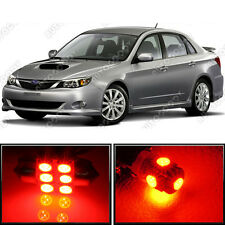8 x Premium Red LED Lights Interior Package Kit for Subaru Impreza 2004-2017