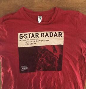g star raw t shirt Size M(W19in L25in) Red G Star Raw Denim Original