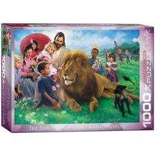 Eurographics Jigsaw Puzzle The Lion and the Lamb Nathan Greene 1000 Pieces 60345