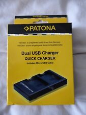 PATONA DUAL USB CHARGER QUICK CHARGER INCLUDING MICRO USB CABLE - NEW & BOXED