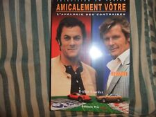 THE PERSUADERS FRENCH BOOK ROGER MOORE TONY CURTIS ITC SAINT AMICALEMENT VOTRE