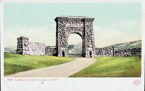 Entrance to Yellowstone Park - Vintage Postcard