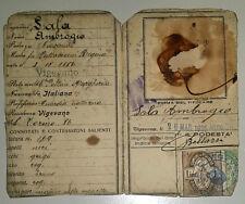 REGNO D'ITALIA COMUNE DI VIGEVANO CARTA D'IDENTITA' - VENTENNIO FASCIO WWI WW2