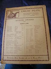 Partition Guitare Gaspard Sanz Emilio Pujol Pavanas Music Sheet