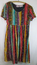 Phases Vintage Dress 100% Cotton Small Gauzy Lightweight Tribal Print Festival
