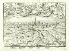 Antique Map-BOIS LE DUC-'S HERTOGENBOSCH-NETHERLANDS-Guicciardini-1567