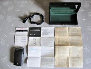 """Elektrischer DDR-Trockenrasierapparat """"bebo sher 2003"""", mit Begleitpapieren/Etui"""