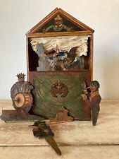 Vintage Hand Painted Puppet Theatre / Castelet