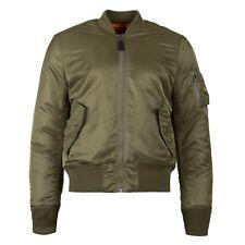 Authentic Alpha Industries Mens Ma-1 Slim Fit Flight Jacket Olive 2xl