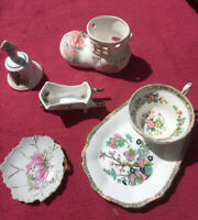 Vintage China Ornament Selection Inc. Bell/ Cup&Plate/Boot.