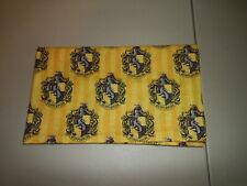 "1-Harry Potter Hufflepuff Crest Travel Size Pillowcase 12 x 20"" New & Handmade!"