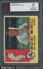1960 Topps #350 Mickey Mantle New York Yankees HOF BVG 7 NM