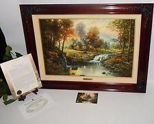 Thomas Kinkade Mountain Retreat 36x24 Framed Canvas Oil Painting, COA 1009/2450