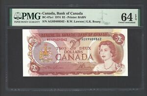Canada 2 Dollars 1974 BC-47a-i Uncirculated Grade 64