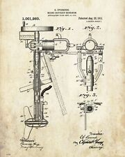 "Fishing Boat Motor  Patent Poster Art  Antique Reels Lures Rods 11/""x14/"" PAT142"
