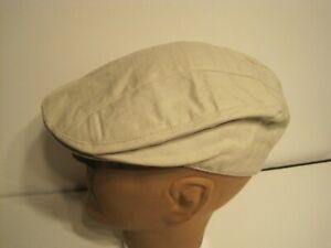 NEW STETSON driving cap Hat PUCKERED CHEX SMALL / MEDIUM