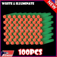 White Glow 100PCS Refill Bullet Darts for Nerf toy Gun N-strike Elite Series z