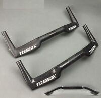 3K Carbon Fiber TT Base Time Trial Triathlon Bullhorn Bar Handlebar 25.4//31.8mm