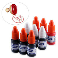 1 Bottle Blue/Red/Black Refill Ink for Photosensitive Self-Inking Rubber Stamp