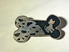 Vintage Disney Sterling Silver 101 Dalmatians Bone Brooch