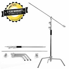 Century Stand | Solid Metal, Adjustable With Boom Arm | 305cm/10ft | by Lencarta