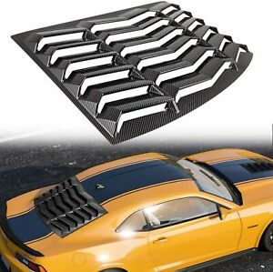 Rear Window Louver Carbon Fiber in GT Lambo Style for Chevy Camaro 2010-2015