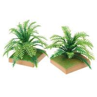 2PCS 6CM Shrub Plus Base Detachable Simulation Tree Plant Model Sand PlateJ AB