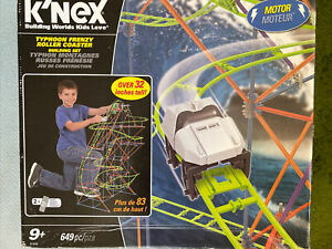 KNEX-TYPHOON ROLLER COASTER-OVER 32 INCHES TALL-649-PIECES-MOTOR-BOXED-9+