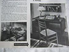Furniture & Woodworking Pattern Mid-Century MOD FIVE HANDSOME DESKS HD264 ©1964