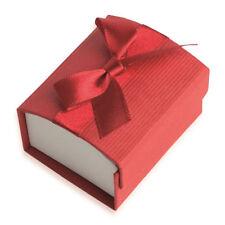 Écrin pour Bague - ROUGE - Boite Cadeau Nœud Ruban - Bijoux