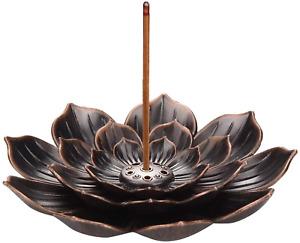 Brass Lotus Flower Incense Sticks Holder Cone Incense Burner Home Fragrance NEW