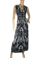 🌻* YARRA TRAIL SIZE 2XL (18) BLACK & WHITE LONG MAXI DRESS