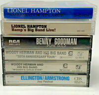 Lionel Hampton Woody Herman Benny Goodman Cassette Tape Lot Of 6 19-2799