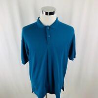 Vtg 80s Levis Mens Large L Dark Teal S/S Polo Shirt
