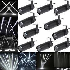 10PCS 10W Mini LED Beam Spotlight Stage Lighting DJ Disco Bar Spin Pinspot Light