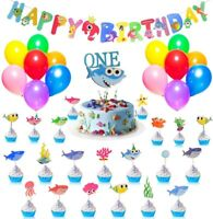 Baby Shark Party Supplies for One Year Old