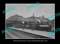 OLD POSTCARD SIZE PHOTO ADELAIDE SOUTH AUSTRALIA THE RAILWAY STATION c1905